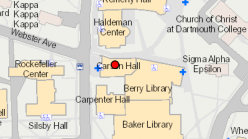 Carson Hall on the Campus Map