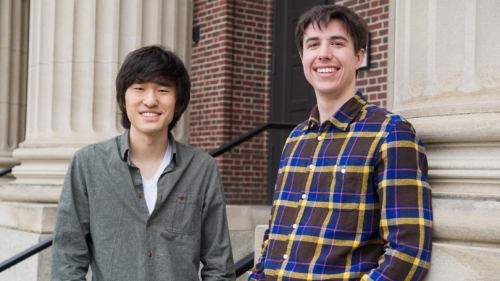 Jun Bum Sun '14 (left) and Karl Schutz '14